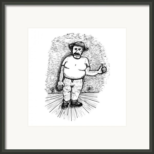 Large Man Framed Print By Karl Addison