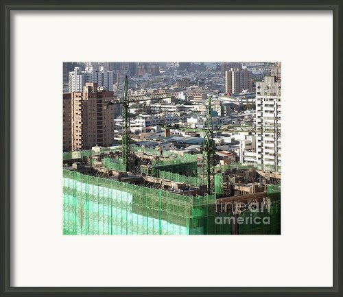 Large Scale Construction Site Framed Print By Yali Shi