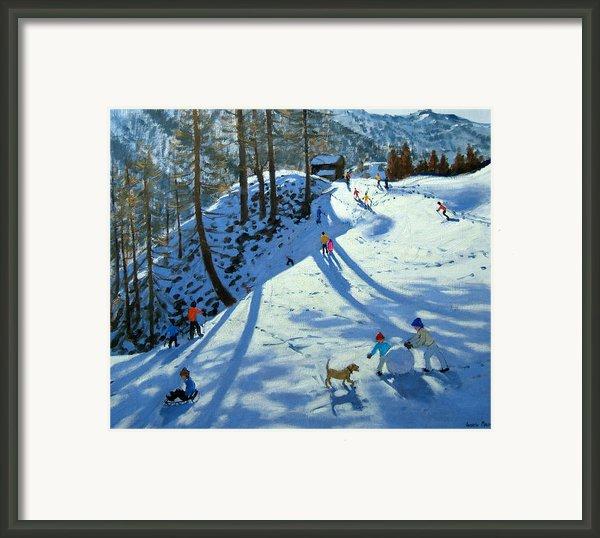 Large Snowball Zermatt Framed Print By Andrew Macara