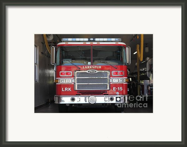 Larkspur Fire Department Fire Engine - Larkspur California - 5d18474 Framed Print By Wingsdomain Art And Photography