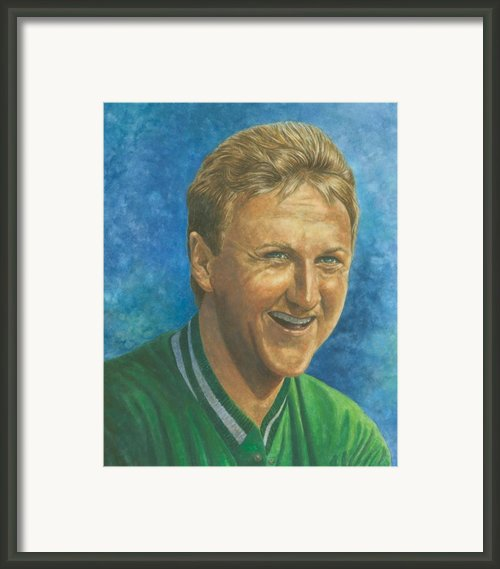 Larry Bird Framed Print By Robert Casilla