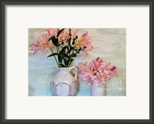 Last Of My Lilies Framed Print By Marsha Heiken