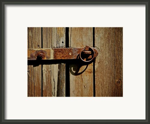 Latch Framed Print By Odd Jeppesen