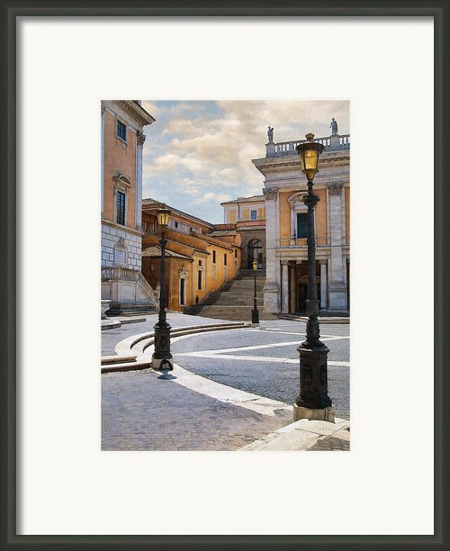 Late Afternoon In Rome Framed Print By Sharon Foster
