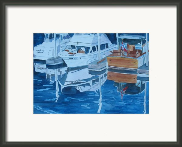 Late Afternoon Reflections Framed Print By Jenny Armitage