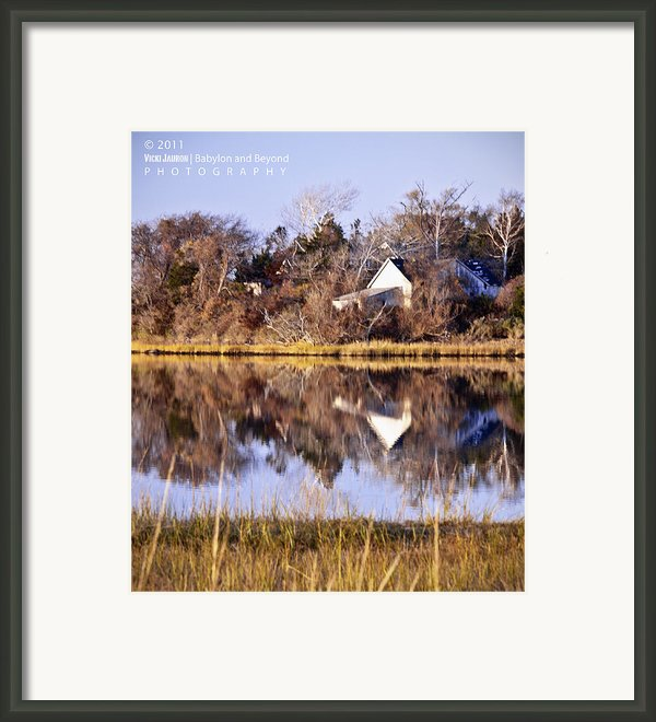 Late Fall Reflection Framed Print By Vicki Jauron