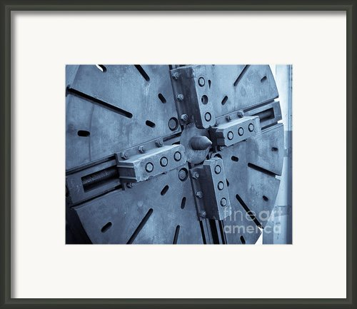 Lathe Faceplate Framed Print By John Buxton