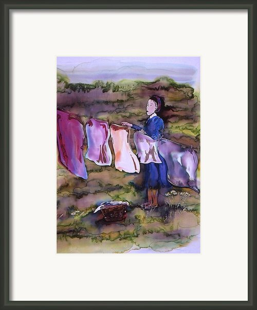 Laundry Day Framed Print By Carolyn Doe