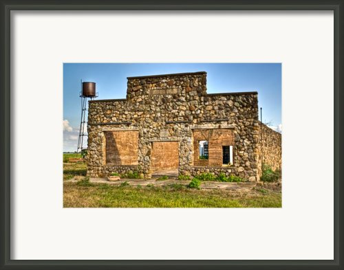 Lauratown Arkansas A Ghost Of The Past Framed Print By Douglas Barnett