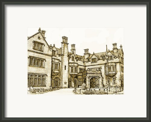Laurel Hall In Sepia Framed Print By Lee-ann Adendorff