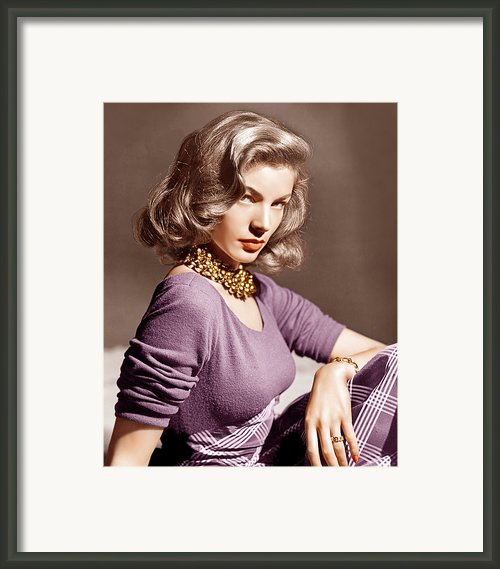 Lauren Bacall, Ca. 1945 Framed Print By Everett