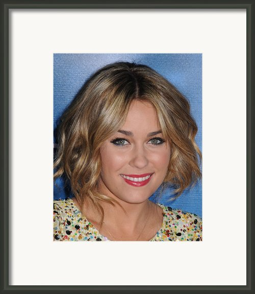 Lauren Conrad At Arrivals For Mtv Hosts Framed Print By Everett