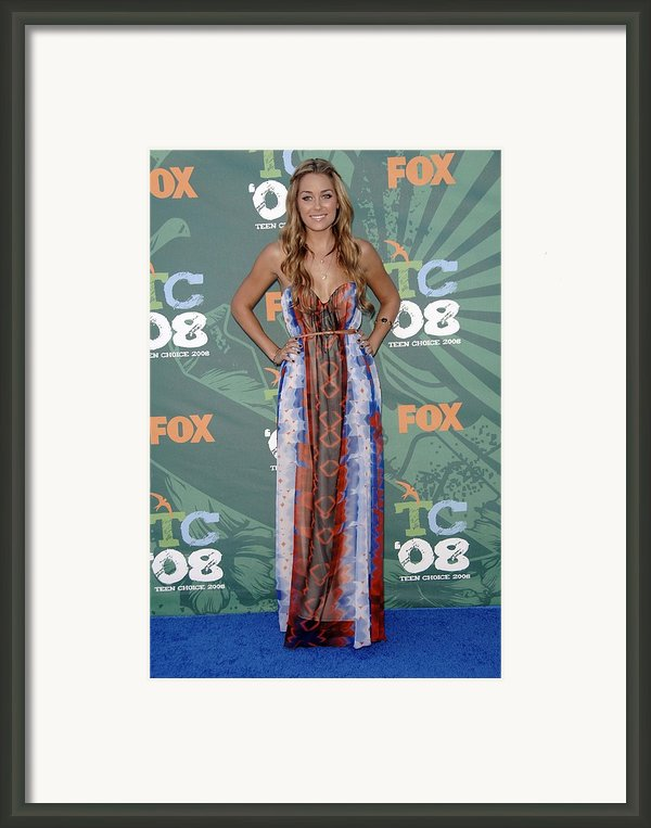Lauren Conrad Wearing A Dress Framed Print By Everett
