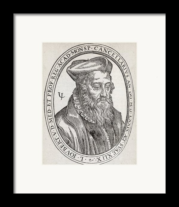 Laurent Joubert, French Physician Framed Print By Middle Temple Library