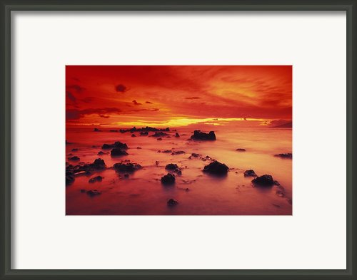Lava Rock Beach Framed Print By Dave Fleetham - Printscapes