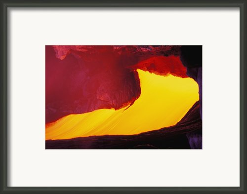 Lava Window Framed Print By Erik Aeder - Printscapes