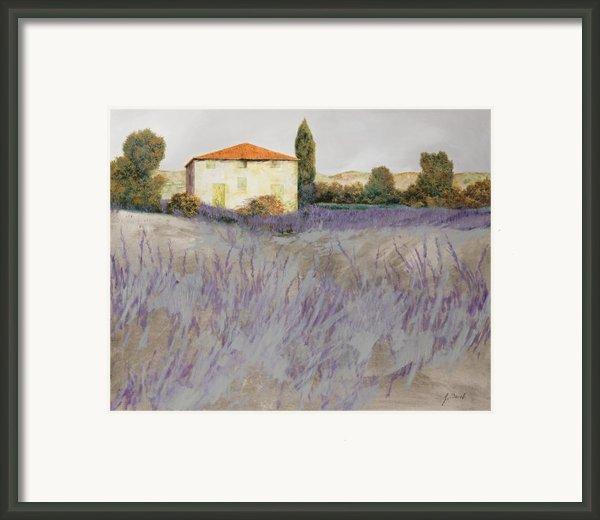 Lavender Framed Print By Guido Borelli