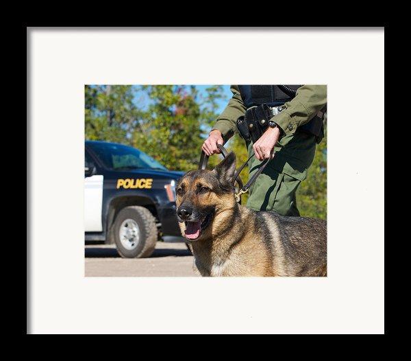 Law Enforcement. Framed Print By Kelly Nelson