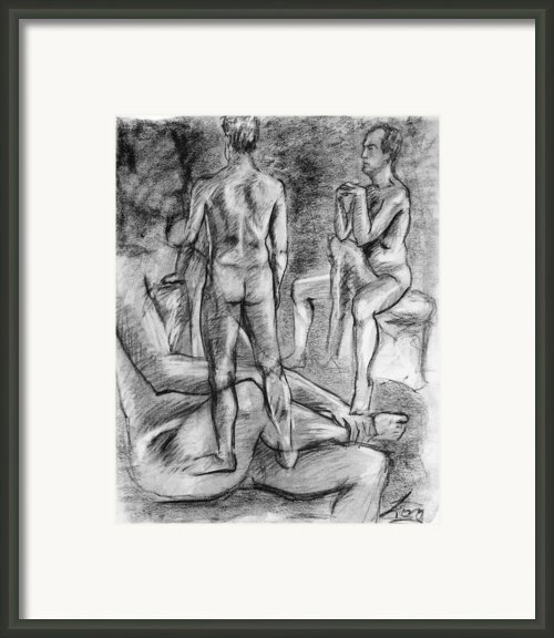 Layered Man Figure Study Framed Print By Adam Long