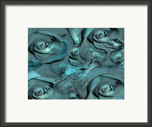 Layers Framed Print By Sabine Stetson