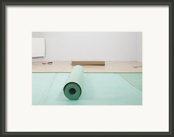 Laying A Floor. A Roll Of Underlay Or Framed Print By Magomed Magomedagaev