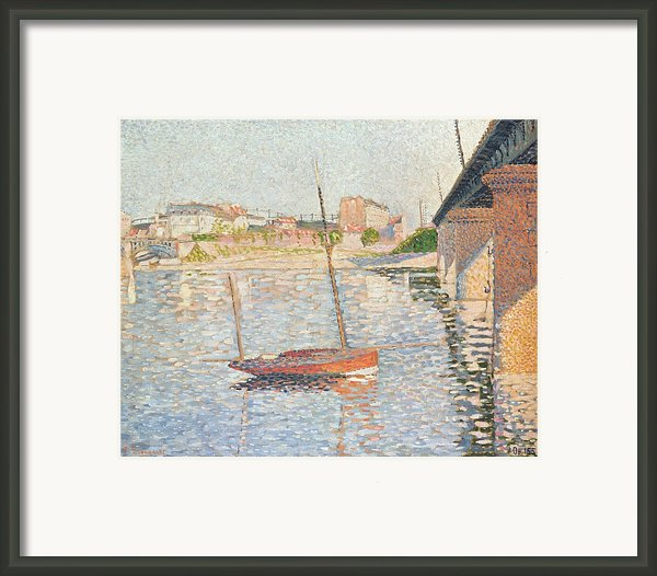 Le Clipper - Asnieres Framed Print By Paul Signac
