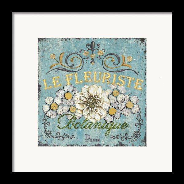 Le Fleuriste De Bontanique Framed Print By Debbie Dewitt