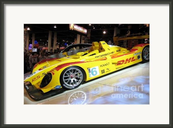 Le Mans Porsche Framed Print By Antique Hero