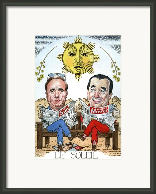 Le Soliel Framed Print By Debbie  Diamond