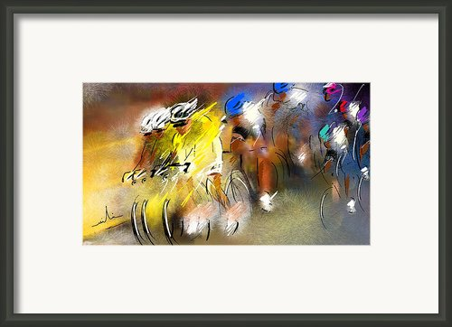 Le Tour De France 05 Framed Print By Miki De Goodaboom