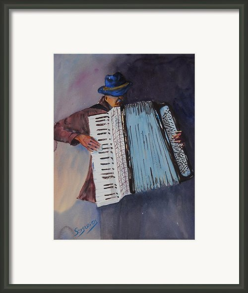 Le Vieil Accordeoniste  The Old Accordion Framed Print By Dominique Serusier