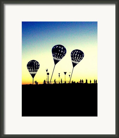 Lead Balloons Framed Print By Alyzen Moonshadow