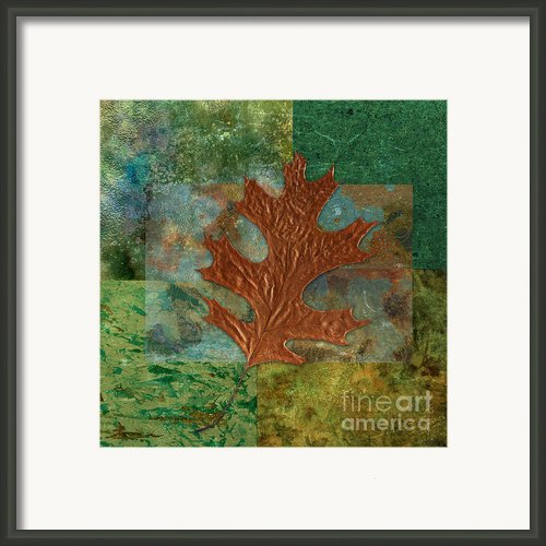 Leaf Life 01 - Green 01b2 Framed Print By Variance Collections