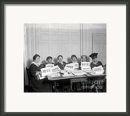 League Of Women Voters Framed Print By Granger