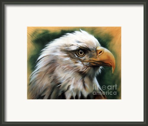 Leather Eagle Framed Print By J W Baker