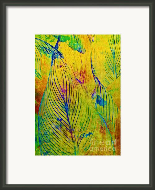 Leaves In The Jungle Framed Print By Judi Bagwell