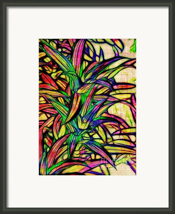 Leaves Of Imagination Framed Print By Judi Bagwell