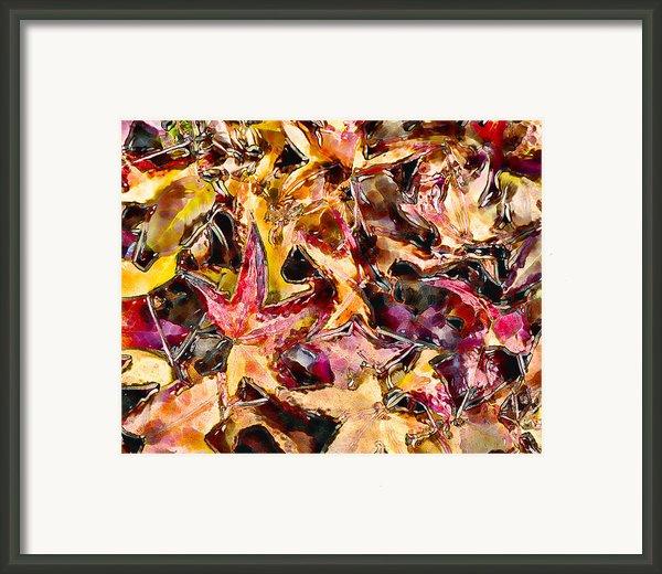 Leaves On Acid Framed Print By Marilyn Sholin