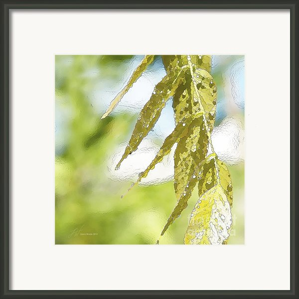 Leaves Touching Water Framed Print By Artist And Photographer Laura Wrede