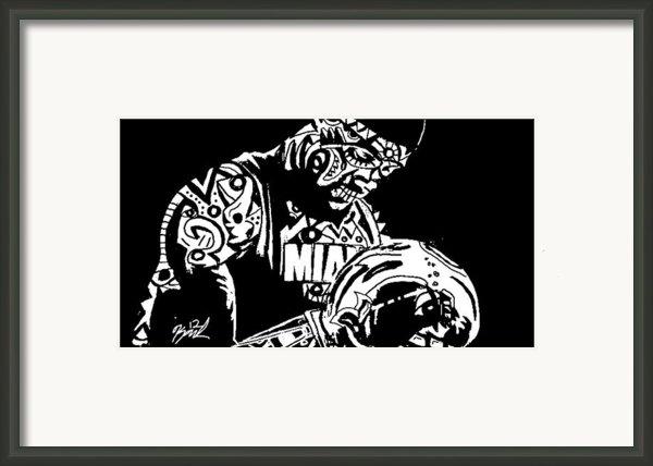 Lebron James Framed Print By Kamoni Khem
