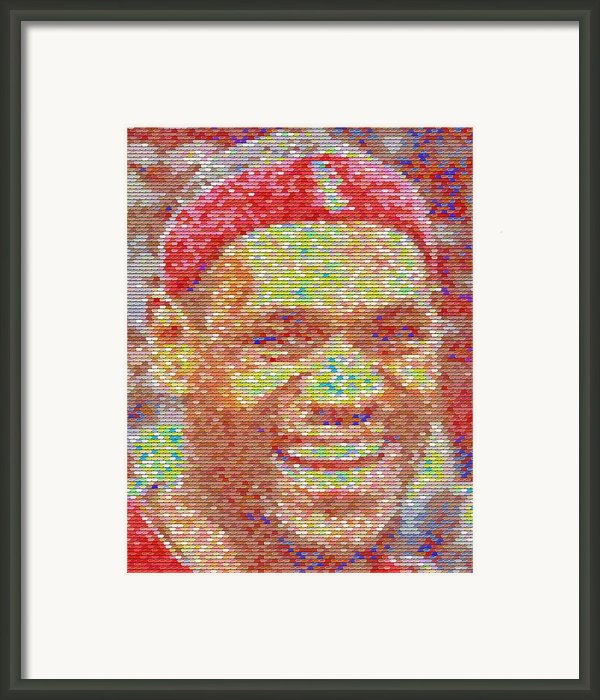 Lebron James Pez Candy Mosaic Framed Print By Paul Van Scott