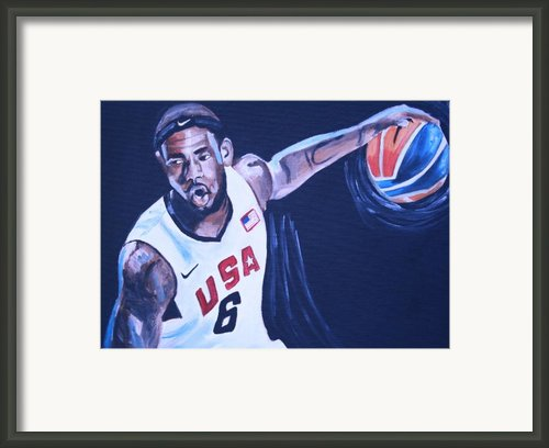 Lebron James Portrait Framed Print By Mikayla Henderson