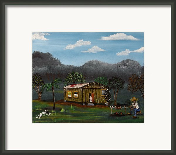 Lecheon A La Bara Framed Print By Gloria E Barreto-rodriguez