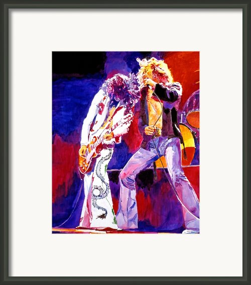 Led Zeppelin - Page And  Plant Framed Print By David Lloyd Glover