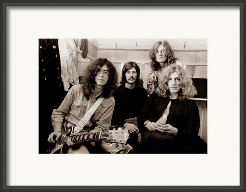 Led Zeppelin 1969 Framed Print By Chris Walter