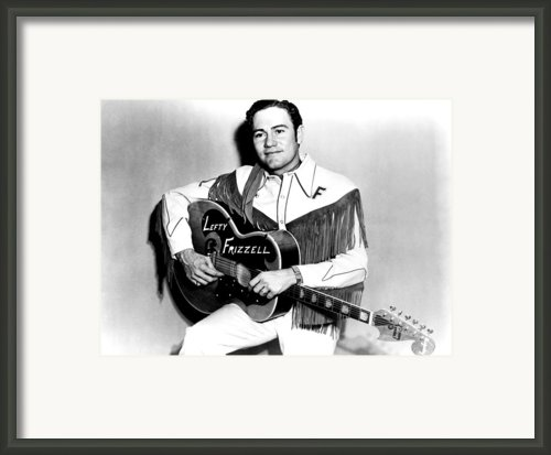 Lefty Frizzell, 1950s Framed Print By Everett