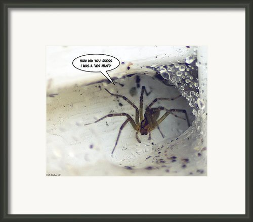 Leg Man Framed Print By Brian Wallace