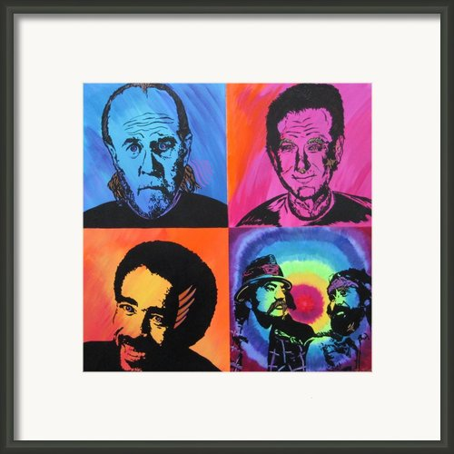 Legends Of Laughter Framed Print By Bill Manson
