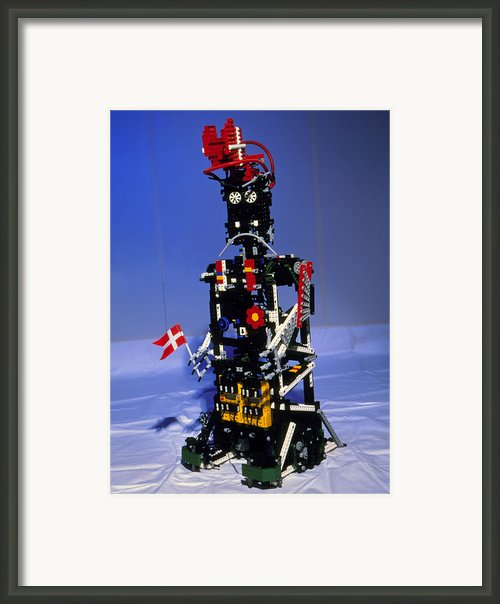 Lego Humanoid Robot Known As Elektra Framed Print By Volker Steger