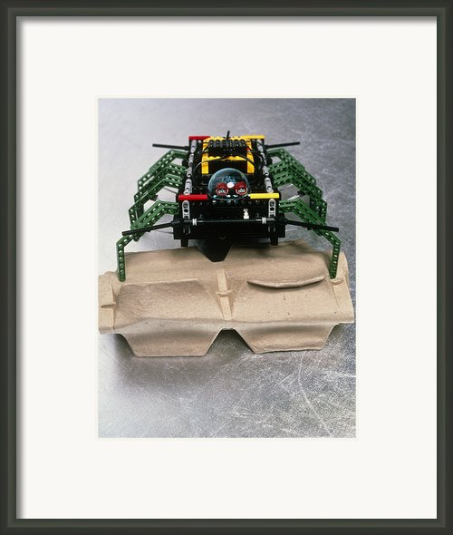 Lego Robot Spider Climbing Over A Box Framed Print By Volker Steger